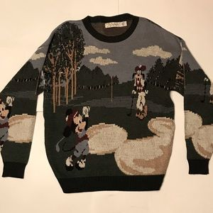 Vintage Mickey and Goofy Sweater
